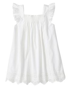 Girls Popover And Play Top In Eyelet from #HannaAndersson.
