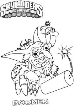 Skylanders Boomer Coloring Page