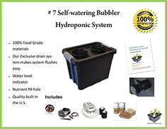 DWC Hydroponic Selfwatering Bubbler kit  07St by H2OtoGro *** See this great product.(This is an Amazon affiliate link and I receive a commission for the sales) #IndoorGardeningHydroponics