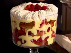 Red Berry Trifle recipe from Ina Garten via Food Network