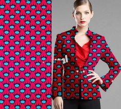2 yards Pink & Blue AfricanFabric Wax Ankara Fabric  by Diutobaby, $19.00