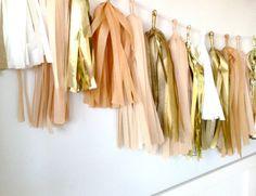 Gold tassels