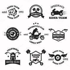 Bikers badges emblems vector. Sport Icons. $4.00