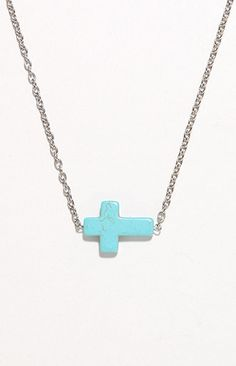 #PacSun                   #love                     #With #Love #From #Turquoise #Side #Cross #Necklace #PacSun.com               With Love From CA Turquoise Side Cross Necklace at PacSun.com                                           http://www.seapai.com/product.aspx?PID=1390560