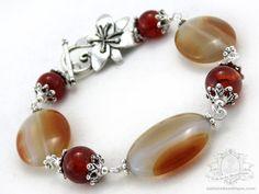 Malaysian Mist Bracelet  Carnelian birthstone by OohlalaBeadtique, $19.00