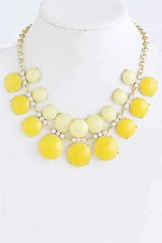 Honey Love — Adrienne Bubble Necklace, Yellow
