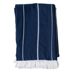 Sam Throw in Navy and White Stripe