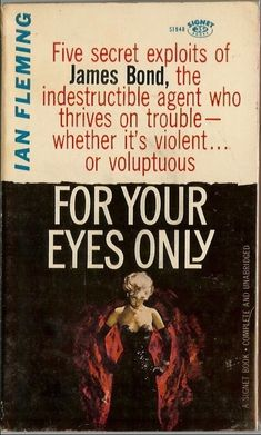 James #Bond for your eyes only ian #fleming #007