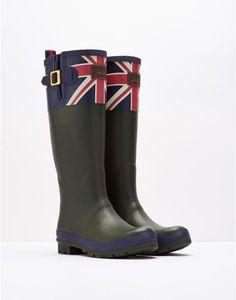 BRITANNIA Womens Tall Union Jack Wellies  Rain Boots