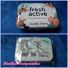 Powermints Frésh Active Sugarfree Mints Acerola Cherry aus der Degustabox November 2015.