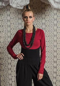 Tammy Top ruby – Sustainable Fashion Australian made bamboo jersey. All Rant Clothing garments are ethically made in Brisbane Australia. Brisbane Australia, Sustainable Fashion, Bamboo, Bell Sleeve Top, Long Sleeve, Sleeves, Clothing, How To Make, Collection