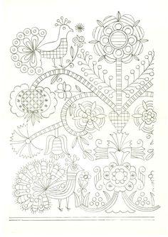 """A RÁBAKÖZI HÍMZÉSEK VILÁGA: Rábaközi hímzőkönyv """"Mintagyűjteménye"""" - I.a.3.sz., rábaközi hímzés Hungarian Embroidery, Embroidery Needles, Learn Embroidery, Crewel Embroidery, Vintage Embroidery, Embroidery Designs, Hand Embroidery Patterns, Stitch Head, Bordados E Cia"""