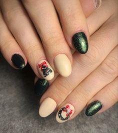 Xmas Nails, Passion, Beauty, Christmas Manicure, Christmas Nails, Santa Hat Nails, Beauty Illustration