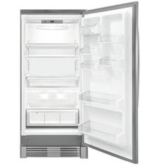 All Refrigerator with 3 Full-Width Cantilever Glass Shelves, 1 Full-Width Humidity Controlled Clear Crisper, Performance Lighting and Optional Trim Kit for Built-in Look (Trim Kit Sold Separately) Refrigerator Without Freezer, Frigidaire Refrigerator, Stainless Steel Door Handles, Stainless Steel Cabinets, Stainless Steel Refrigerator, Single French Door, Inside Cabinets, Fridge Organization