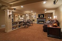 Finished basement.. omg, I would never leave the house if this were my basement.