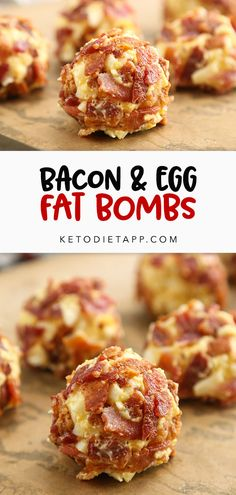 Easy bite-sized keto snacks made with boiled eggs, heart-healthy mayonnaise, and rolled in crispy bacon. #keto #lowcarb #paleo #snacks #fatbombs #mealprep Dairy Free Recipes, Low Carb Recipes, Health Recipes, Diet Recipes, Gluten Free, Lemon Fat Bombs, Fat Bombs Keto, Keto Diet Breakfast, Breakfast Recipes