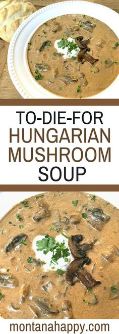To-Die-For Rustic Hungarian Mushroom Soup - You will LOVE this soup.
