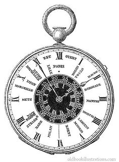 Time Zone Watch. This picture was taken from number 769 of the magazine L'Illustration, published on 21 November 1857.