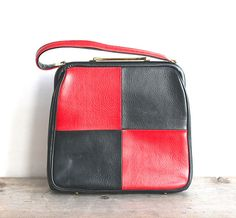Hey, I found this really awesome Etsy listing at https://www.etsy.com/listing/178238390/1960s-jr-designer-purse-red-black