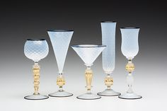 Opal Goblets by Kenny Pieper: Art Glass Goblet available at www.artfulhome.com