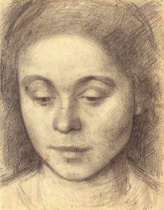 Vilhelm Hammershøi - Portrait of Ida, the Artist's Wife - 1898 #holsøe #painter