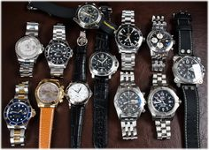 Today's update has variety!  3 Breitling posted, including an early 90s Navitimer AVI, a very scarce Panerai Chrono (PAM215) with Lemania 1872 movement, a Patek Philippe Travel Time in white gold, and on the other end of the spectrum a Hamilton Below Zero Chrono.  From Rolex we've posted an increasingly hard to get 16613 Submariner (c '06), a GMT-Master II (ca. '01), Yacht-Master 40mm ('04), and a stunning 18k Daytona with Tahitian Mother of Pearl dial.