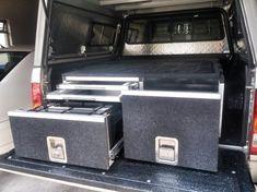 DIY Hilux DC Drawer System - 2015 Ute Canopy, Truck Bed Storage, Aluminium Cladding, Diy Drawers, Camper Conversion, Van Camping, Fj Cruiser, Camper Ideas, Ford Ranger