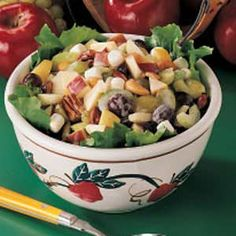 Taste of Home                          Apple Salad                    Recipes-                                                  Apple is a tart addition to any green salad with these apple salad recipes that use chicken, cheese, cranberries, spinach, lettuce, walnuts, pecans, broccoli, vinaigrette and more.