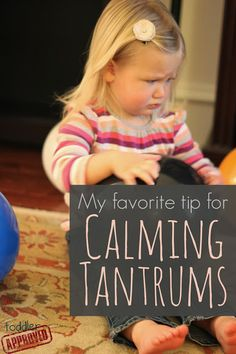 Something to read. Tip For Calming Tantrums