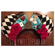 Alice in Wonderland Inspired Mouse Ears by SillyWittleSarah. She has many other Disney-inspired ears in her store to check out!