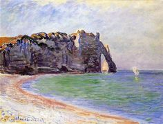 The Manneport, Etretat, the Porte d'Aval 1885 Claude Monet
