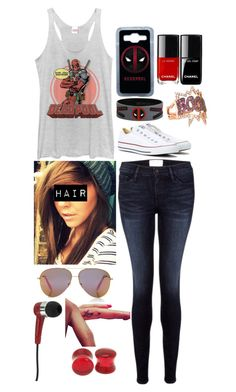 """""""Deadpool"""" by beatles5ever ❤ liked on Polyvore featuring Frame Denim, Beautiful People, Converse, Marvel Comics, Samsung, Diane Kordas, Victoria, Victoria Beckham and Mizco"""