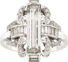 Art Deco Diamond, Platinum Ring