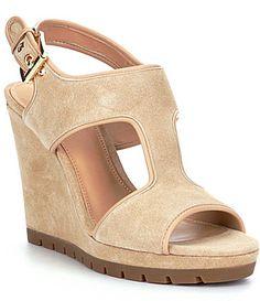 dc41ff7b622801 MICHAEL Michael Kors Gillian Wedge Sandals  Dillards Wedge Shoes