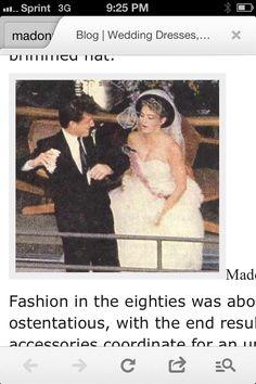 Sean pinned Madonna wedding day