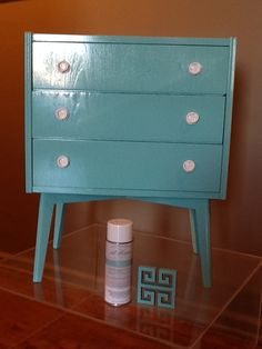 Adorable small chest that was rescued and restored with High Performance  Lacquer -- Amy Howard
