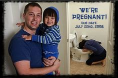 Funny Pregnancy Announcement I would kill my husband but it is funny.