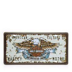 Harley Davidson, License Plate Art, Retro, Vintage Signs, Decoupage, Poster, Products, License Plates, Automotive Decor