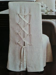 Slipcovers - cool tied back