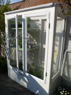 Diy greenhouse from old windows. Indoor Greenhouse, Greenhouse Gardening, Forest Garden, Garden Paths, Grow Cabinet, Garden Architecture, Old Windows, Backyard, Patio