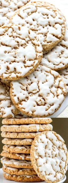 These Old Fashioned Iced Oatmeal Cookies from Saving Room for Dessert are everything you want in a cookie! They are homemade and are so much better than store-bought.