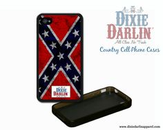 Dixie Darlin Apparel rebel flag country cell phone case - need an iPhone!