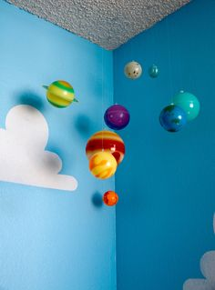 """We get several questions about our painted clouds on the walls of our ToyStoryRoom. This blog will show you how to make Pixar perfect Toy Story Clouds of your own. Our Toy Story Cloud stencils are now available on Amazon. The blue paint color is Benjamin Moore """"Grandma's Sweater"""" #787,"""