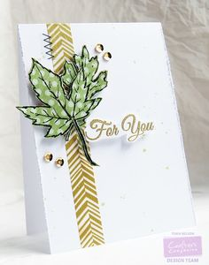 Jazzy Paper Designs: Leaves For You Card