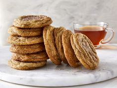 Snickerdoodles are already a classic cookie, but add chai and they become irresistible. Cinnamon, cardamom, and a touch of black pepper intermingle Thanksgiving Cookies, Fall Cookies, Cut Out Cookies, Baking Recipes, Dessert Recipes, Fun Recipes, Copycat Recipes, Fall Cookie Recipes, Cookies