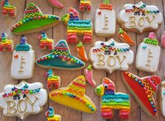 it's a boy fiesta baby shower - Baby shower - Bebe Mexican Theme Baby Shower, Unique Baby Shower Themes, Baby Shower Decorations Neutral, Mexican Party, Babyshower Themes For Boys, Baby Shower Ideas For Boys Themes, Mexican Birthday, 30th Birthday, Birthday Parties