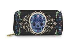 Loungefly Cobalt Skull Zip Wallet