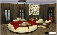 Simenapule: Bedroom Set Hamal • Sims 4 Downloads