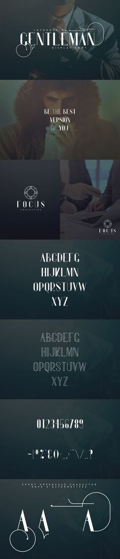 Gentleman font + 10 Logos (-30%) - Gentleman is elegant display font with 3 alternative glyphs for each character. It's a very versatile font that works great in large and small sizes. Gentleman is perfect for branding projects, home-ware designs, product packaging, wedding invitations, magazine headers - or simply as a stylish text overlay to any background image.