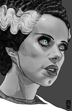 Inspired by the classic Universal Horror movie, Bride of Frankenstein. 31 Days Of Halloween, Halloween Horror, Halloween Art, Halloween Cupcakes, Halloween Recipe, Halloween Costumes, Tattoos, Zombies, Witches